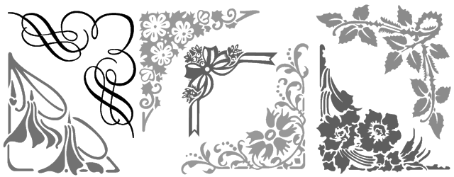 Decorative border font shreel51