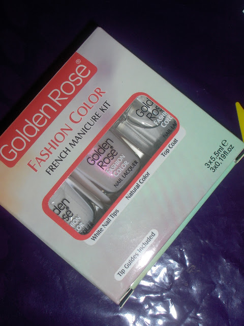 golden rose french manicure kit