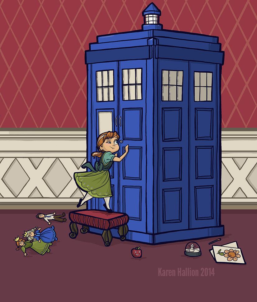 Dr Who encontra as Princesas Disney