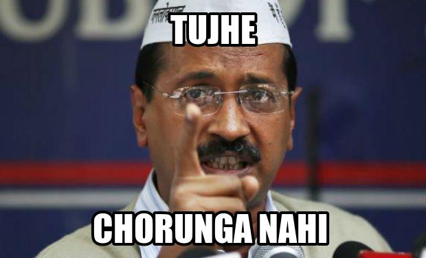 Funniest Meme Pages On Fb : Tujhe chorunga nahi arvind kejriwal funny meme