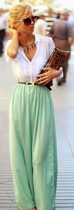 Palazzo Pants With Long Shirts