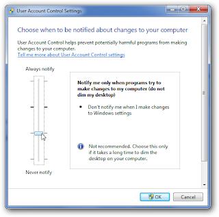 Disable UAC Windows 7