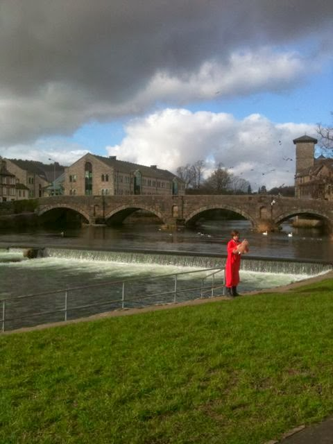 Kendal weir and Stramongate Bridge, Kendal