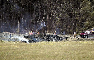 The field where Flight 93 allegedly crashed