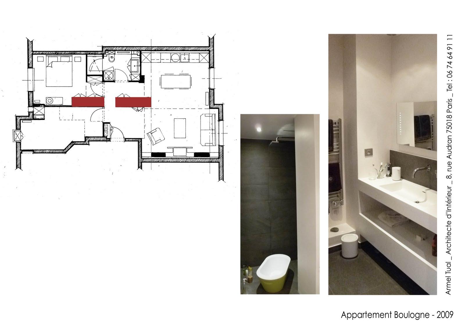 Armel tual architecte d 39 int rieur cfai appartement de 65m2 for Architecte d interieur quimper
