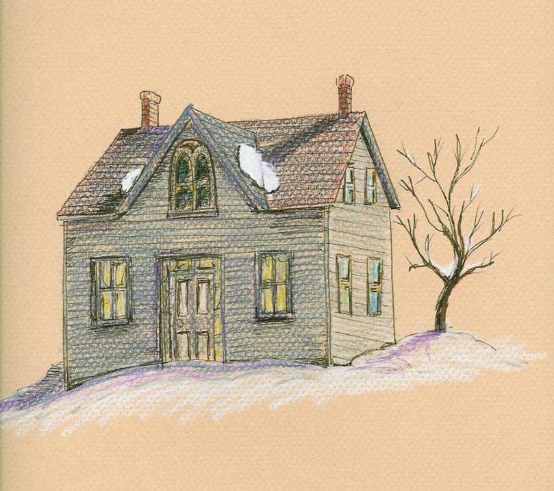 Old Cottage Drawing | www.pixshark.com - Images Galleries ...