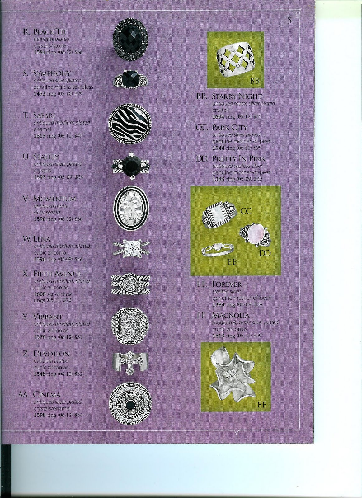 Jewelry diva the ring collection for Premier jewelry catalog 2011