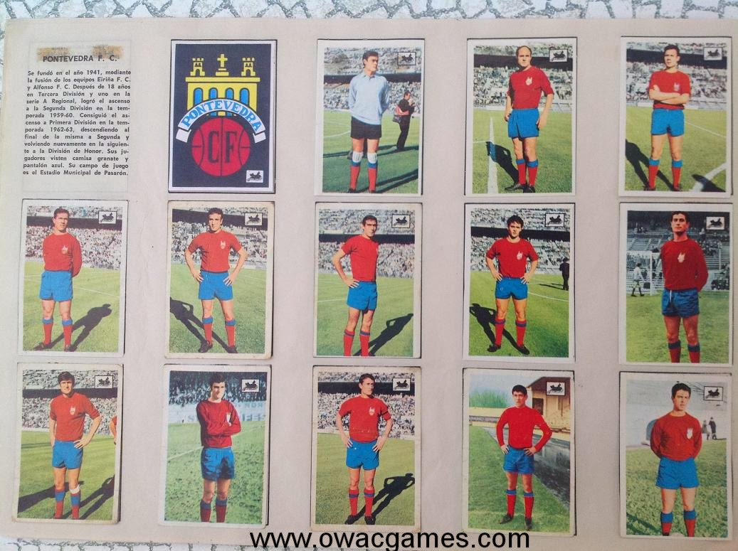 Pontevedra F.C. 1969-70 Chocolates La Cibeles