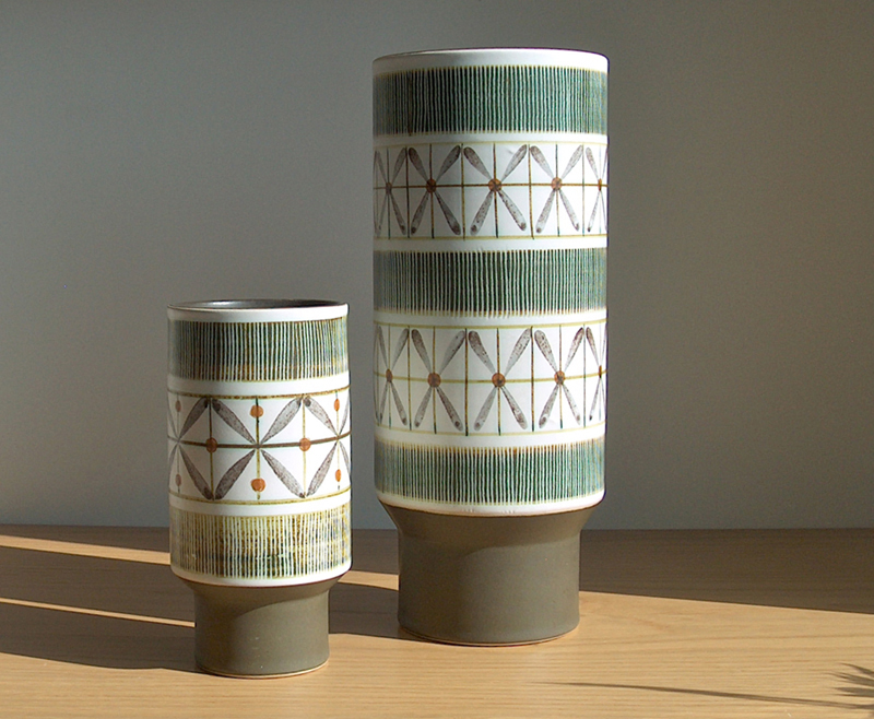 Potshots Retro Denby Langley Vases Is This The Hand Of Glyn Colledge