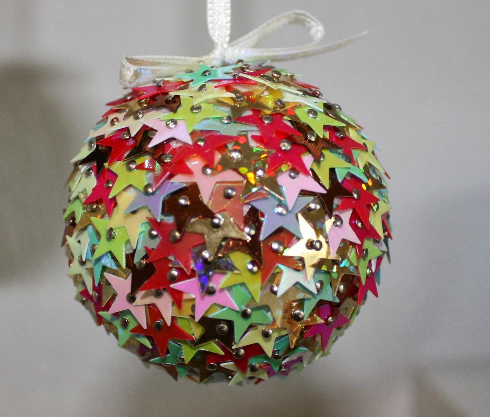 Creamoments weihnachtsglanz - Styroporkugeln mit pailletten ...