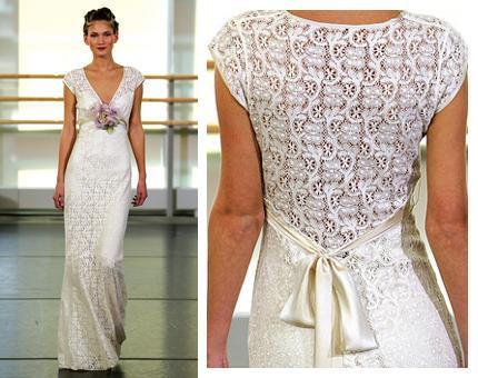 como hacer vestido de novia a crochet - imagui
