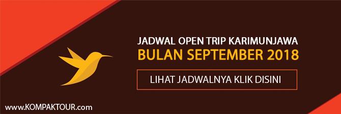 JADWAL OPEN TRIP KARIMUNJAWA MURAH BULAN SEPTEMBER