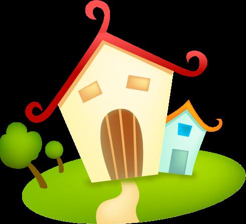 Рисованные картинки домики