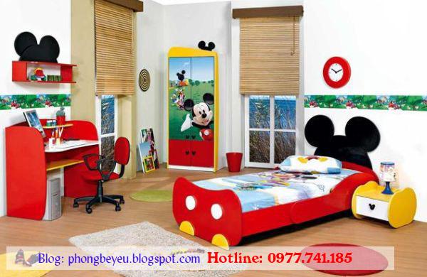Bộ  phòng ngủ cho bé hình Micky