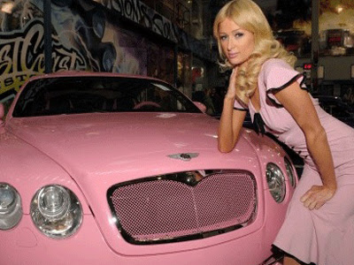 paris hilton with her favorite car