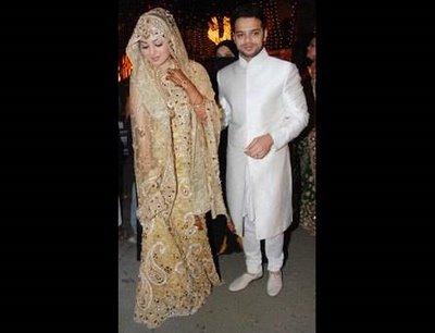 Bridal Dresses Ayesha Takia Wedding Reception Pictures