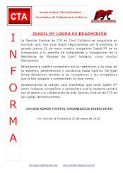 ISABEL Mª LOGRA SU READMISIÓN