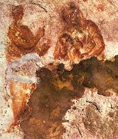 Cea mai veche imagine cunoscută cu Fecioarei Maria hranind copilul Iisus. Catacombele Priscilla, Roma (sec. al II-lea)