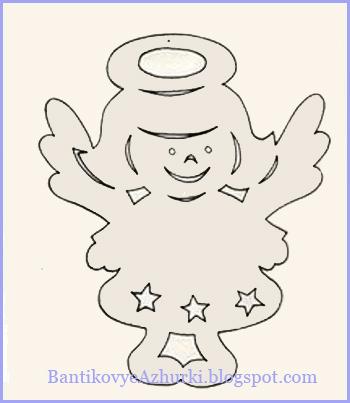 Гирлянда из бумаги своими руками схемы ангел