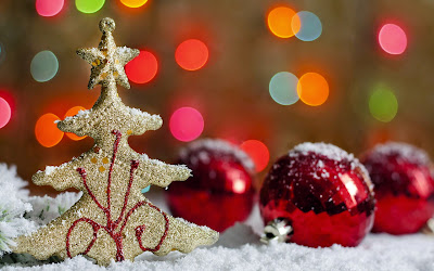 Papel de parede enfeites de natal Christmas tree ornaments desktop wallpaper