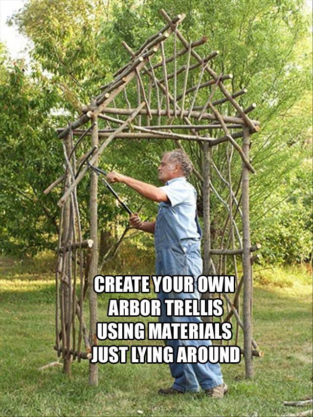 19 do it yourself garden ideas 19 pics daily fun pics for Make your own fence