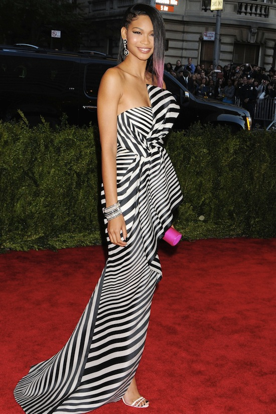 Chanel Iman in J Mendel Met Ball Vogue 2013