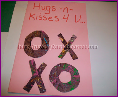 Valentine's Day Card with paint skin X and Os