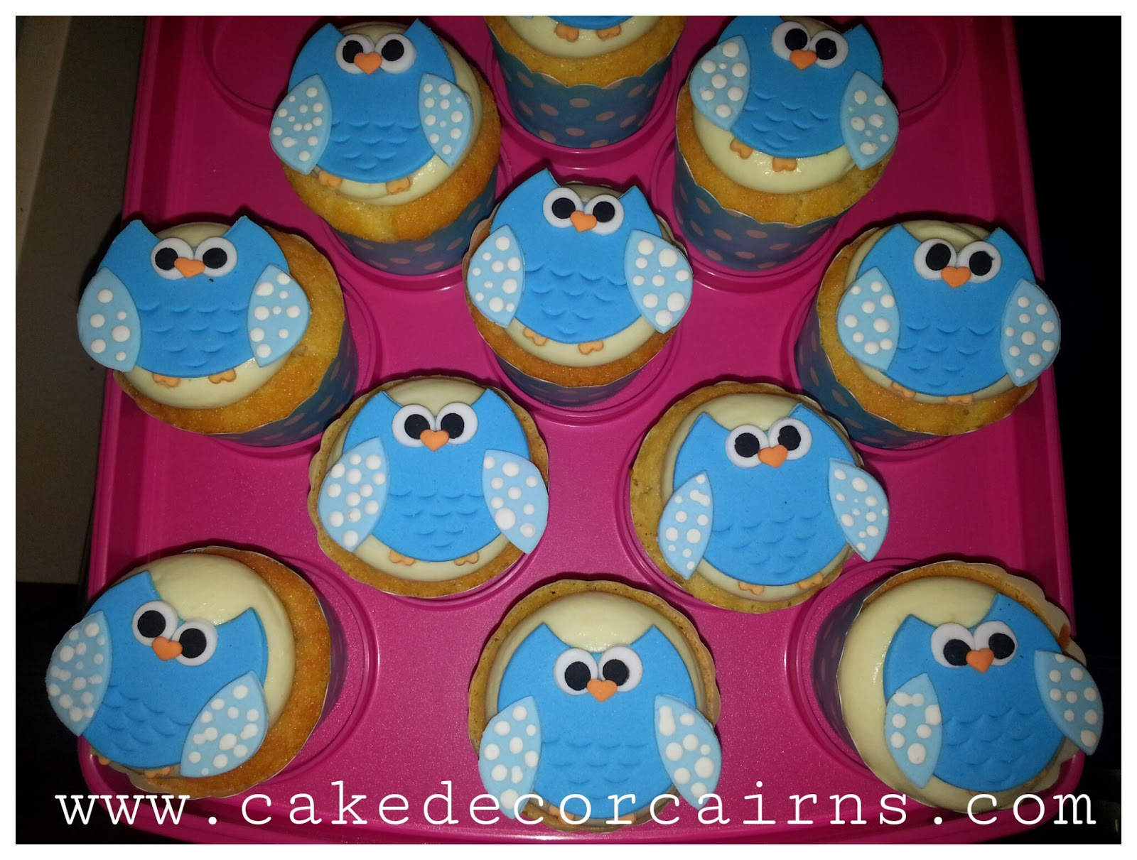 Owl Cupcake toppers fondant.