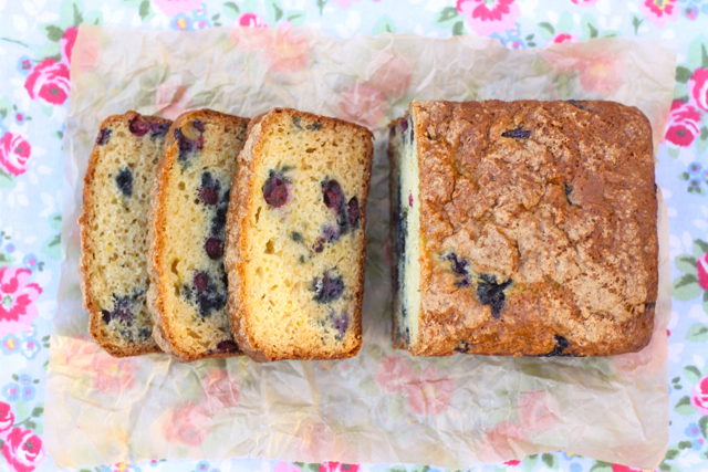 Lightened-Up Blueberry Lemon Greek Yogurt Bread