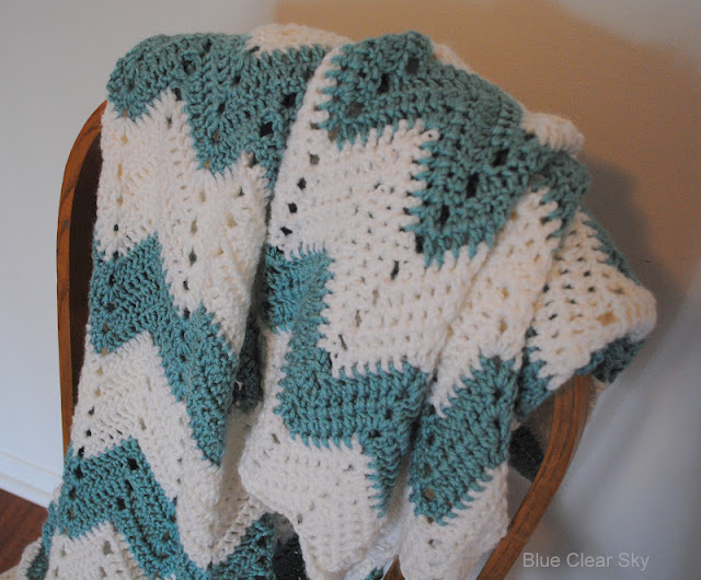 Rustic Maple: Chevron Crocheted Afghan
