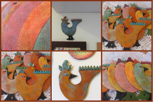 בושרי, סדנאות פימו, סדנאות יצירה, חימר פולימרי, ציפור לקיר פימו,חיקוי קרמיקה,