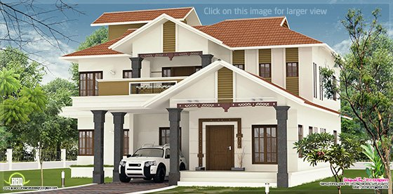Beautiful villa elevation