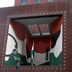Funhouse Facade - With mirrors, on the Permanent Mission of India to the U.N., on 43rd St. off 2nd Ave.