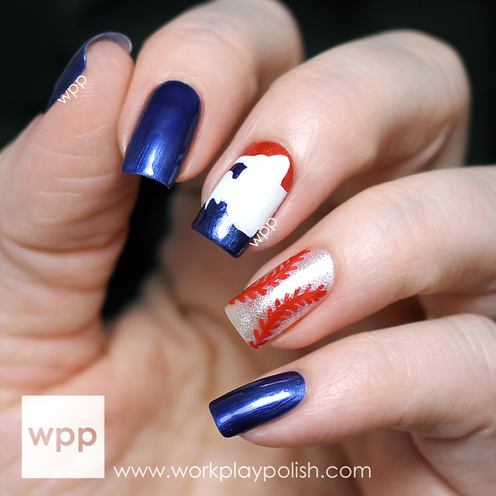 Baseball Nails With Opis Limited Edition Mlb Fashion Plate