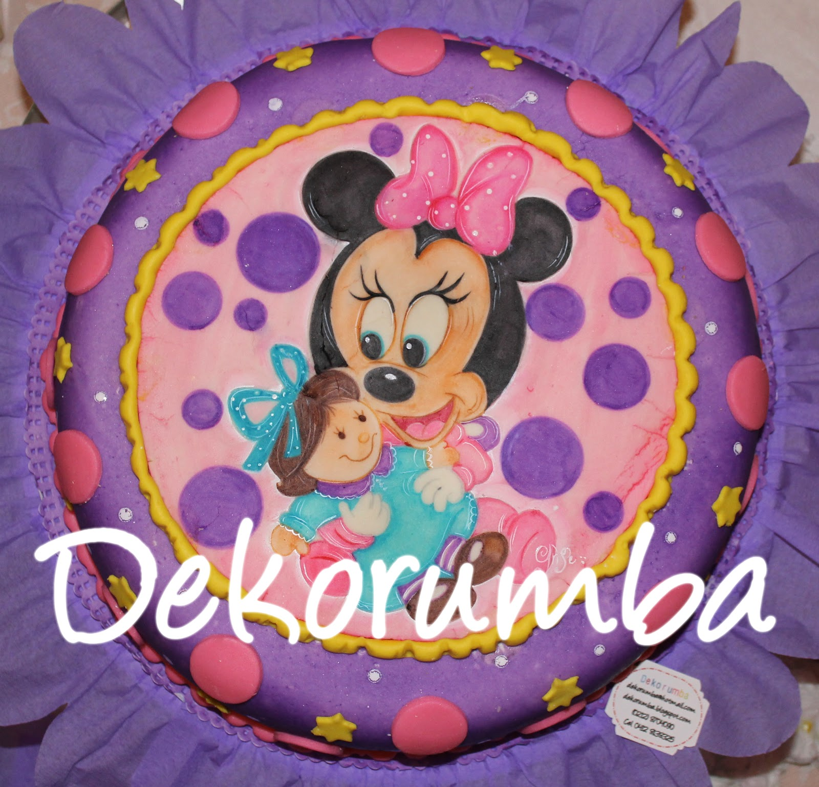 Torta decorada Minnie baby Disney - Imagui