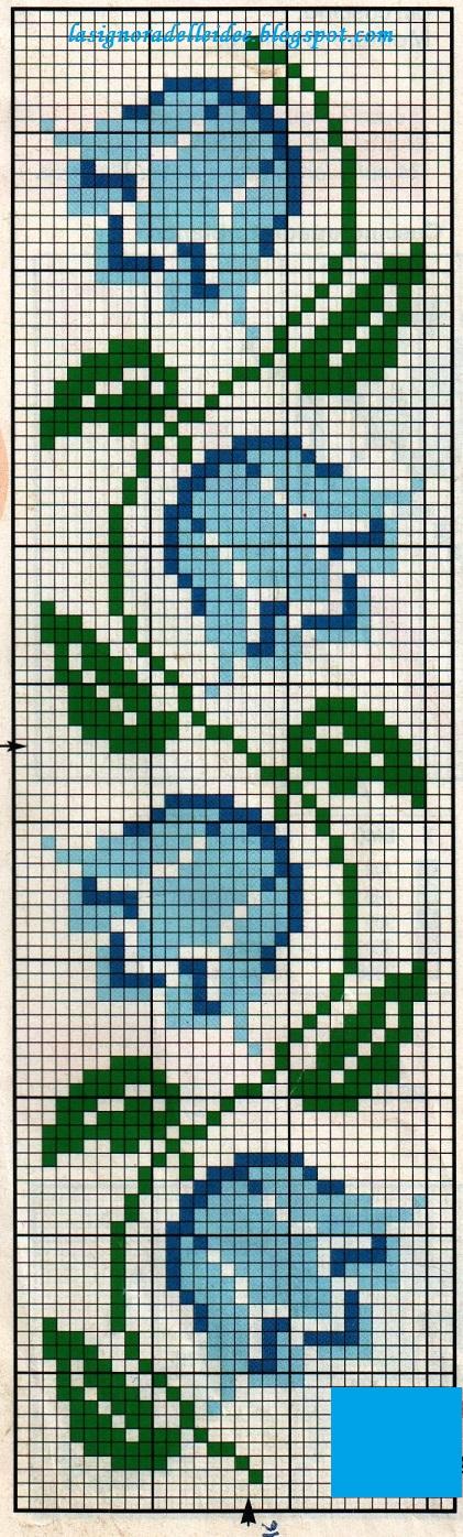 La signora delle idee un bagno di fiori crocettati - Disegni punto croce per tovaglie da tavola ...
