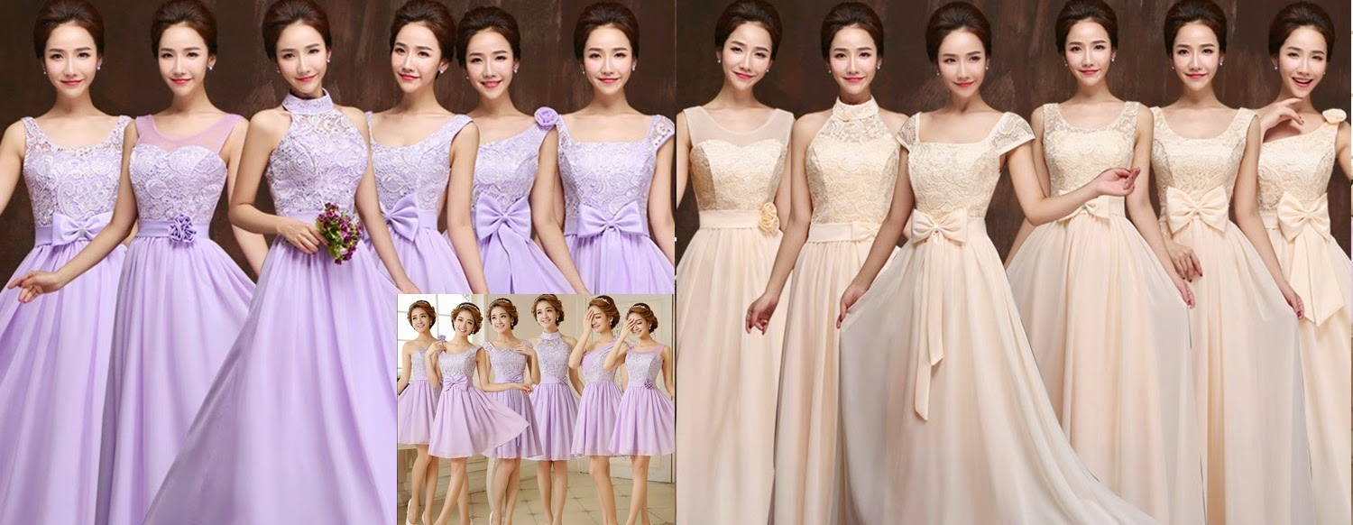 6-Design Delicate Crochet Lace Bridesmaids Midi/Maxi Bridesmaids Dress