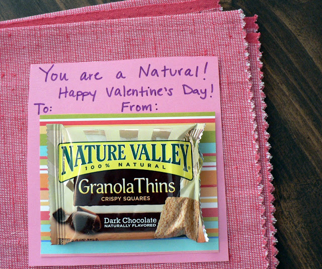 Healthy Valentine Treats for kids, granola bar valentine