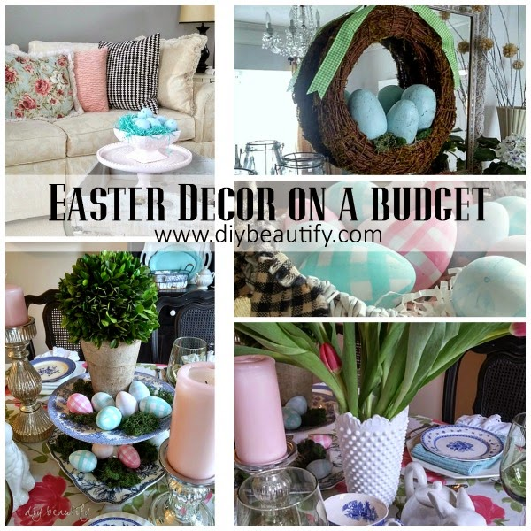 easter decore on a budget