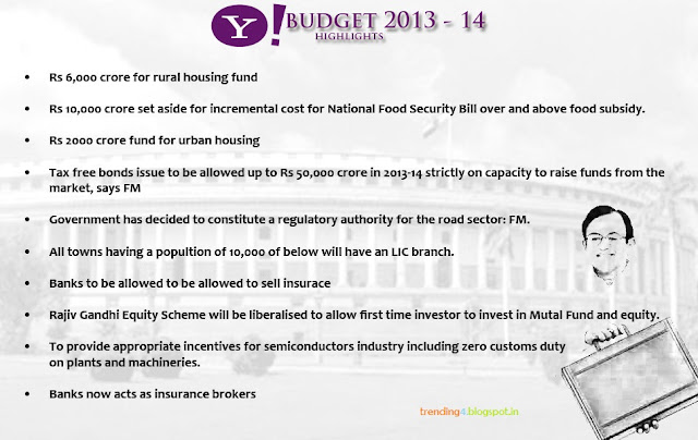 indian budget 2013 14 highlights Budget 2013-14 presented by finance minister p chidambaram in the lok  sabha thrusday let's review union budget 2013-14 & its positive.