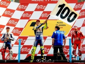 Rossi 100 victorias