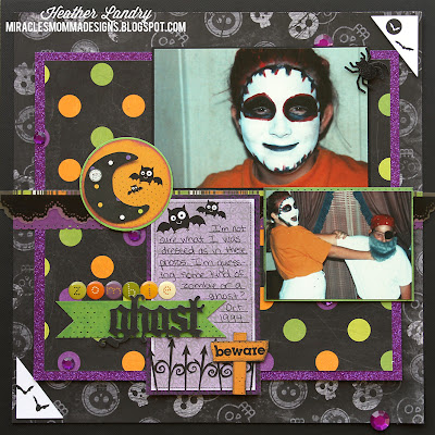 Halloween_Teenager_Scrapbook Page Layout_Bo Bunny