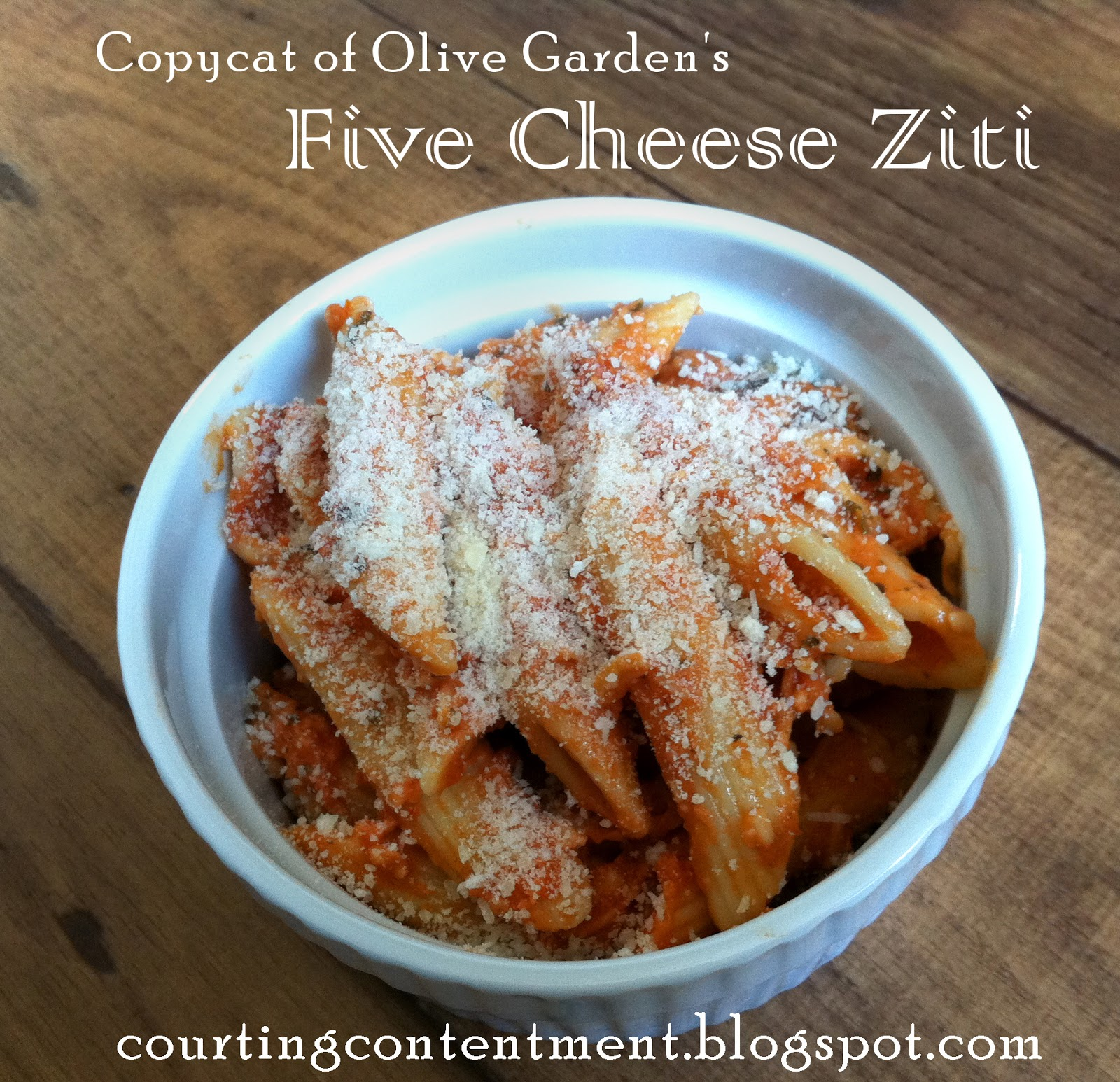 Courting Contentment: Copycat Five Cheese Ziti from Olive Garden