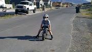 Kaleb on Friends Pocket Bike. Posted by jaffefamilyfun at 2:32 PM