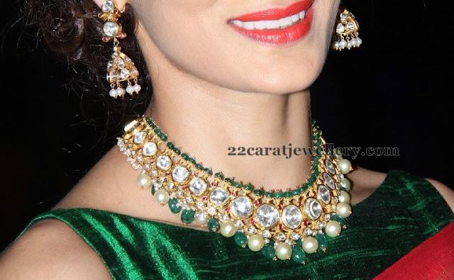 Shilpa Reddy Kundan Emerald Choker