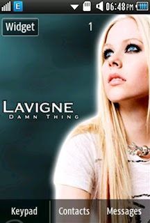 Other Avril Lavigne Samsung Corby 2 Theme Wallpaper