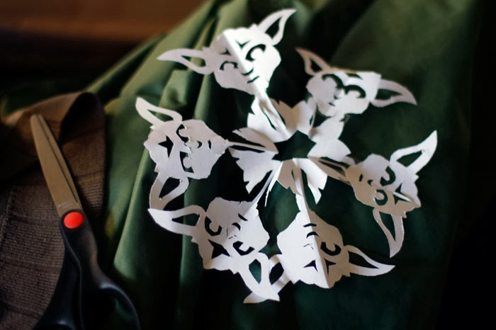 star wars yoda snowflake cut out