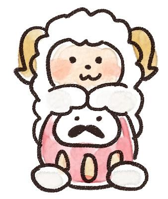 ダルマと羊のイラスト(未年)