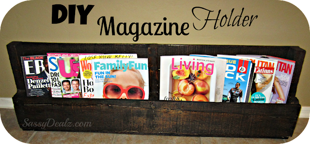 DIY: How To Make A Wine or Magazine Rack Out of a Wood ...