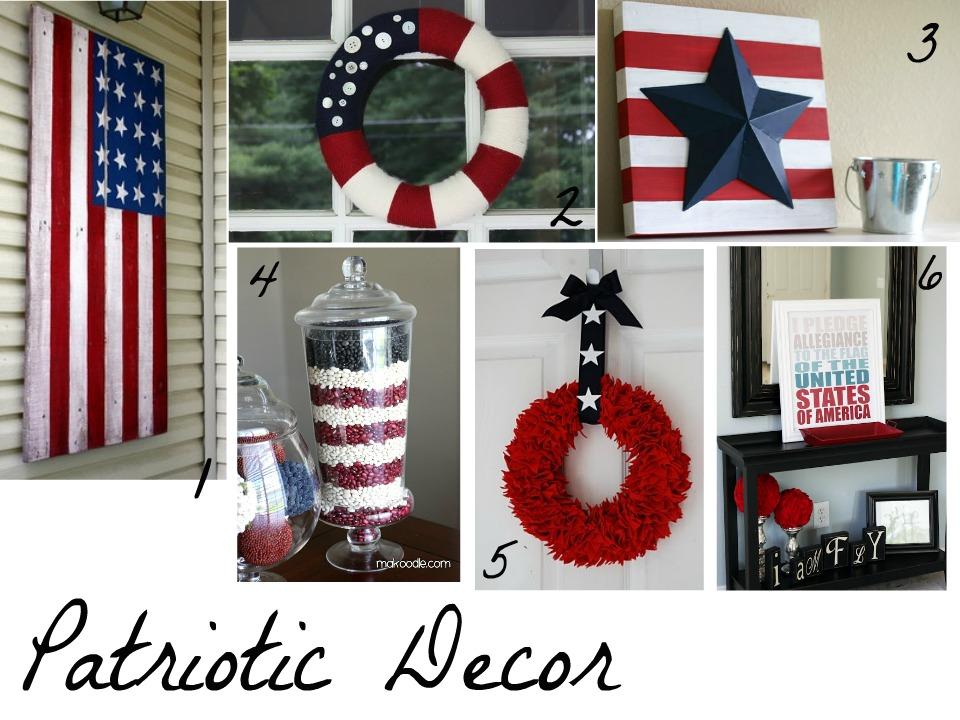 Patriotic decor crafts pinterest - Patriotic home decor ideas ...